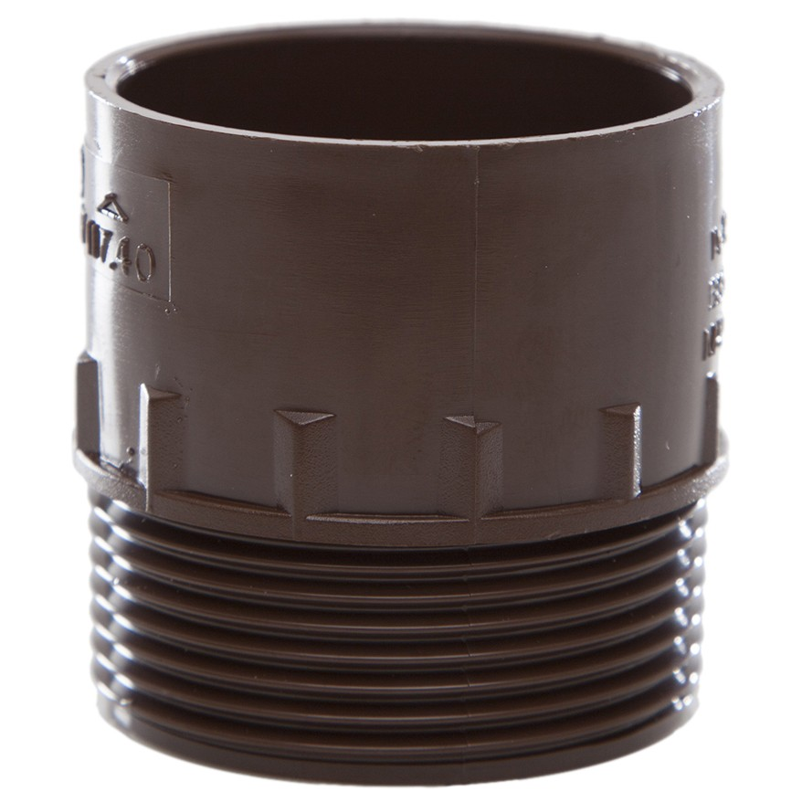 Polypipe 40mm Solvent Weld Waste to Male Iron Adaptor - Brown