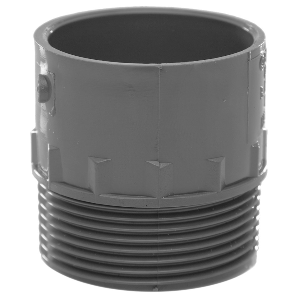 Polypipe 40mm Solvent Weld Waste to Male Iron Adaptor - Grey