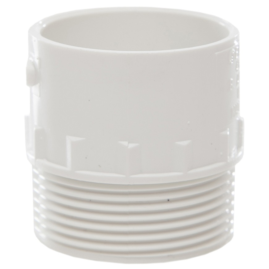 Polypipe 40mm Solvent Weld Waste to Male Iron Adaptor - White