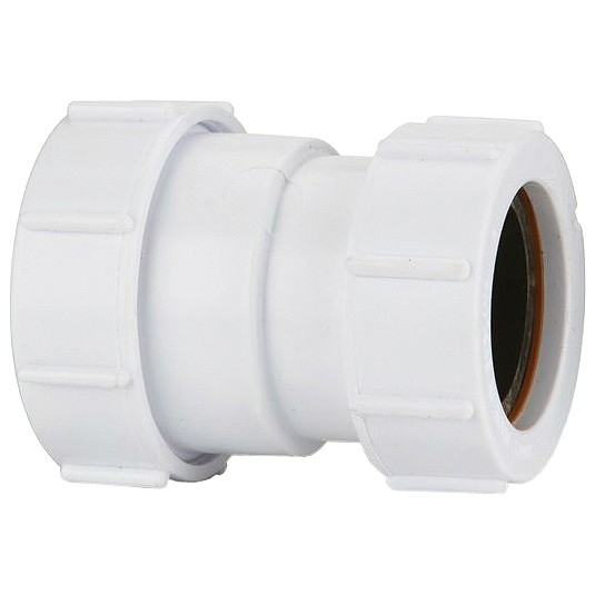 Polypipe 40mm to 32mm Universal Compression Waste Reducer - White