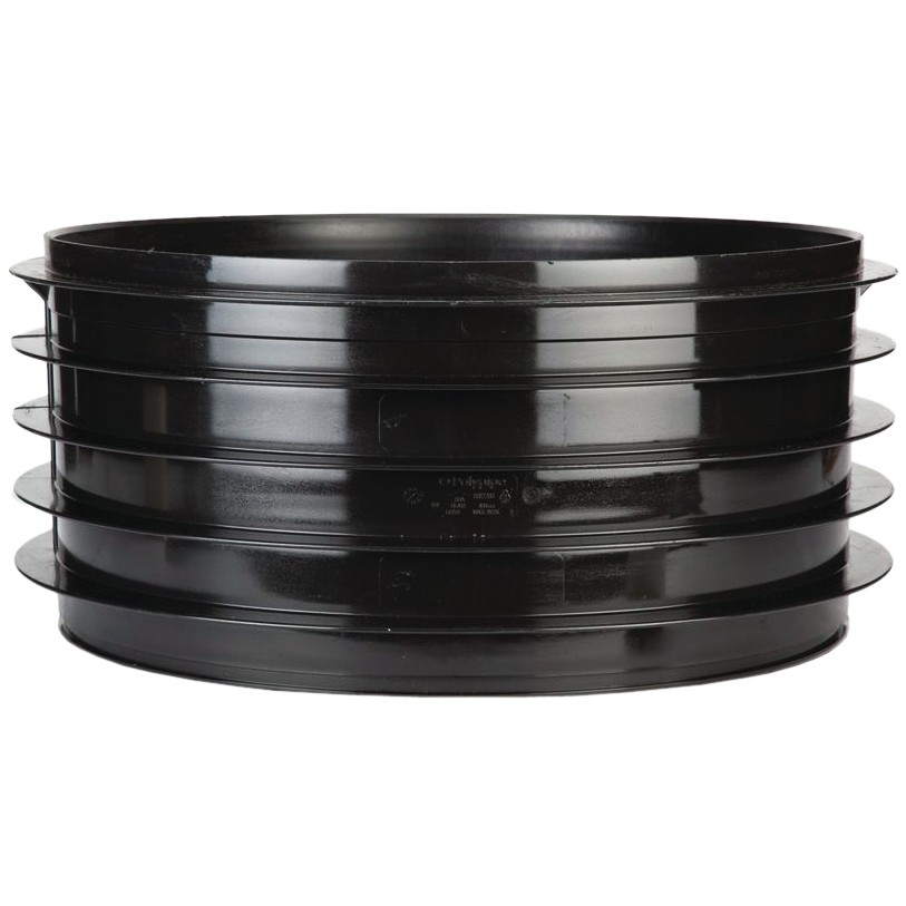 Polypipe 460mm Underground Side Riser - Black, 460mm x 215mm
