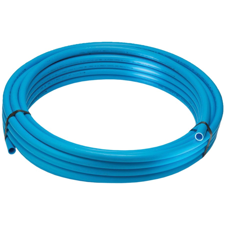 Polypipe 50mm MDPE Water Service Coil Pipe - Blue, 25 Metre