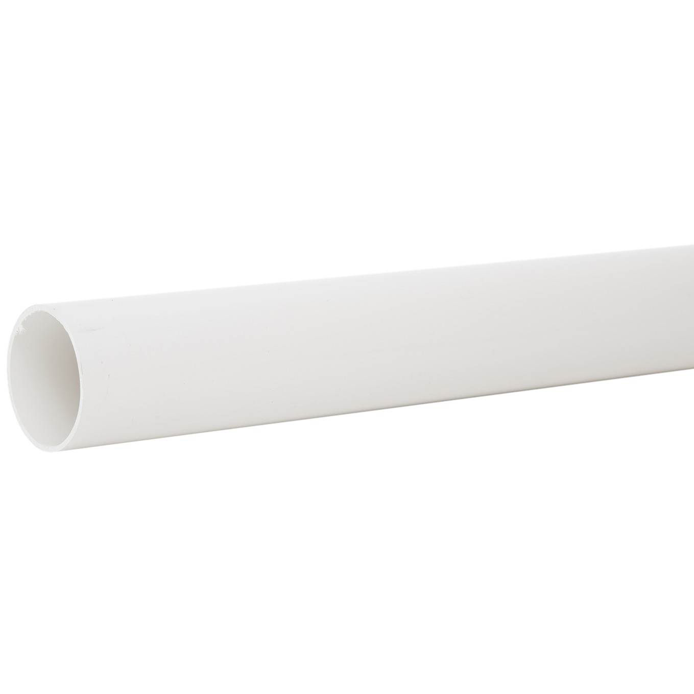 Polypipe 50mm Mini Round Down Pipe - White, 2 metre