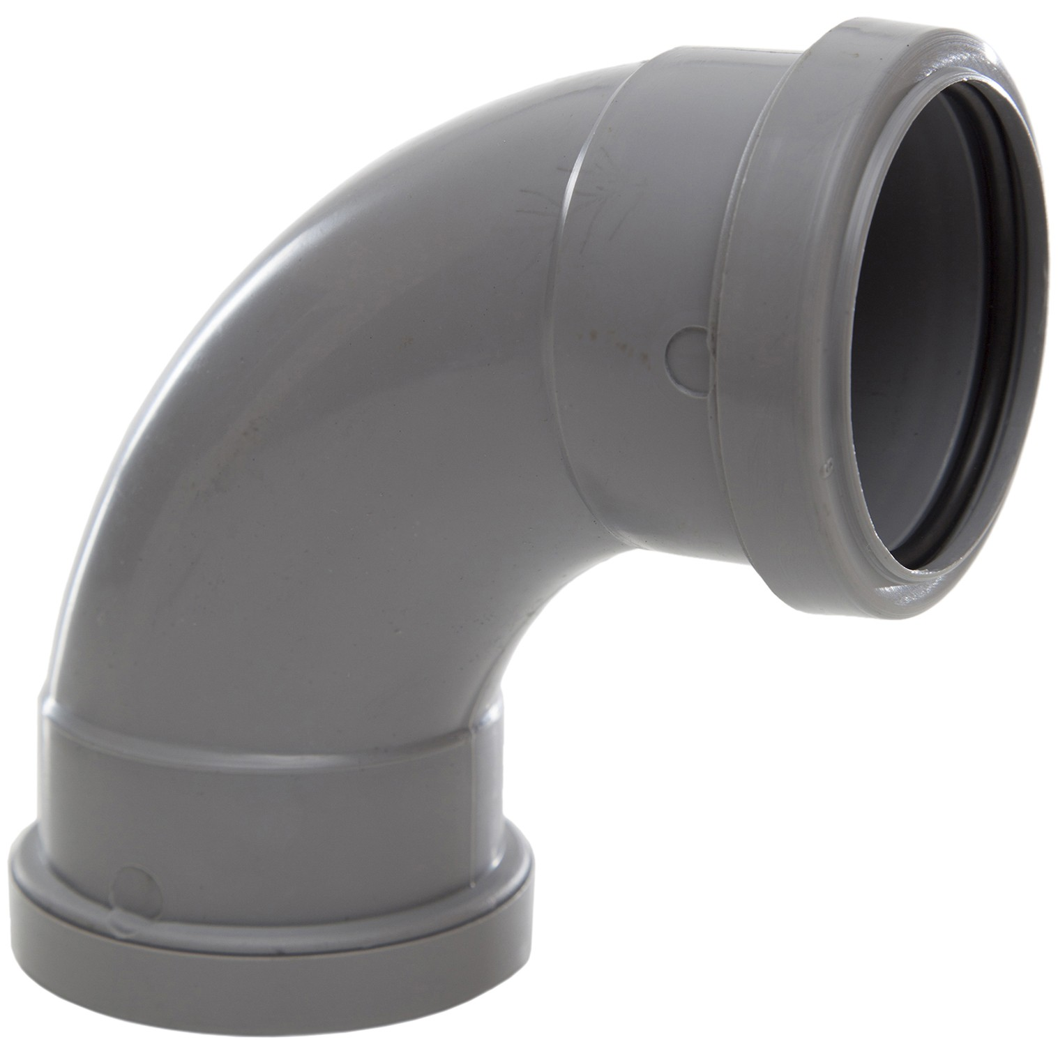 Polypipe 50mm Push Fit Waste 91.25 Degree Swept Bend - Grey