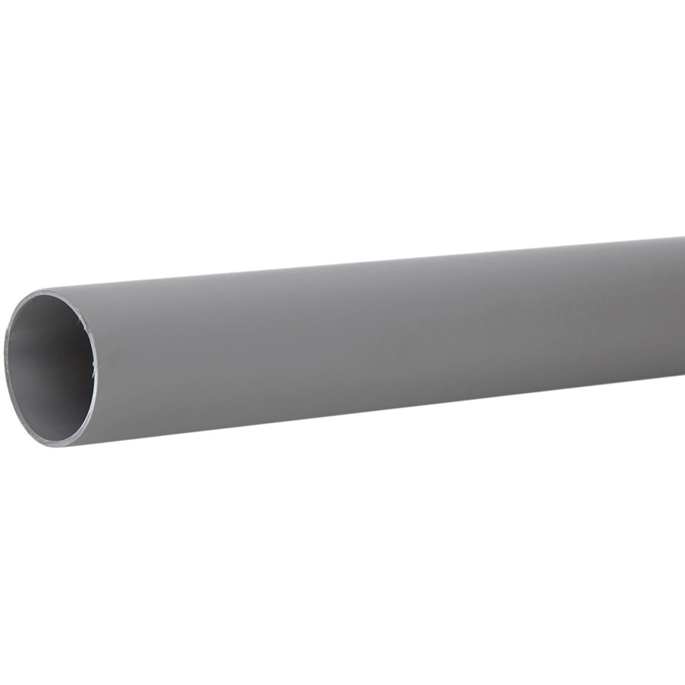 Polypipe 50mm Push Fit Waste Pipe - Grey, 1.5 metre