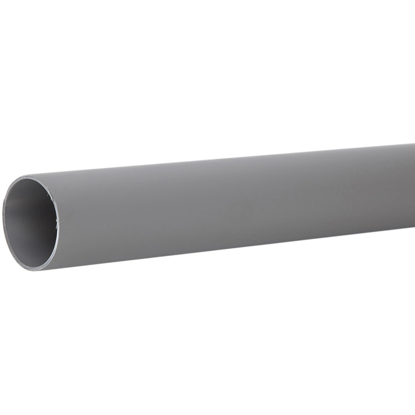 Polypipe 50mm Push Fit Waste Pipe - Grey, 3 metre