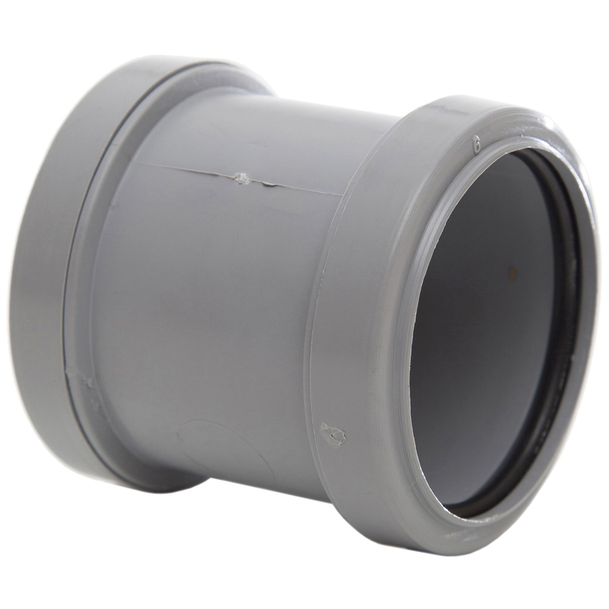 Polypipe 50mm Push Fit Waste Straight Coupler - Grey