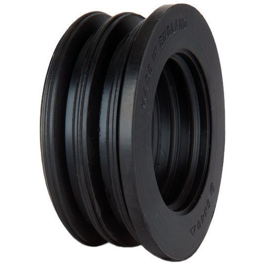 Polypipe 50mm Soil Boss Adaptor Rubber - Black