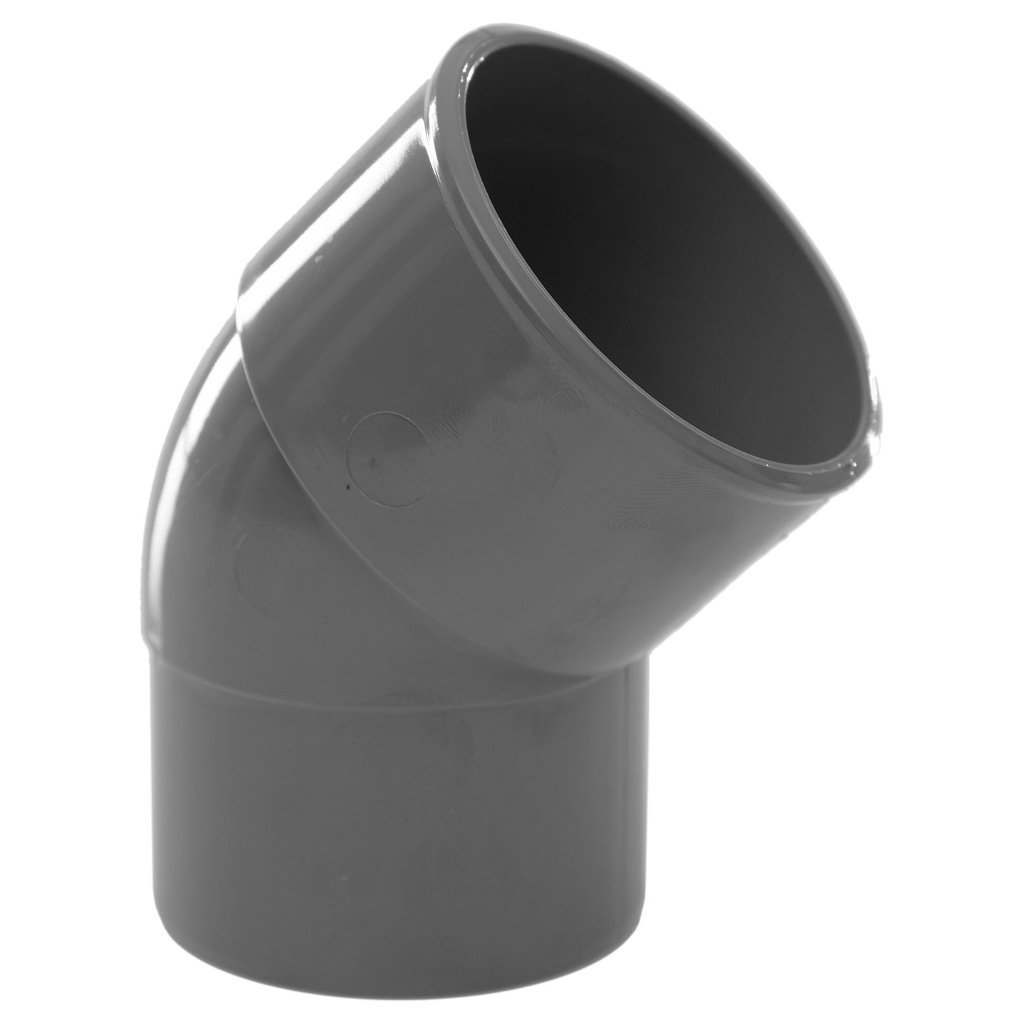 Polypipe 50mm Solvent Weld Waste 45 Degree Spigot Bend - Grey