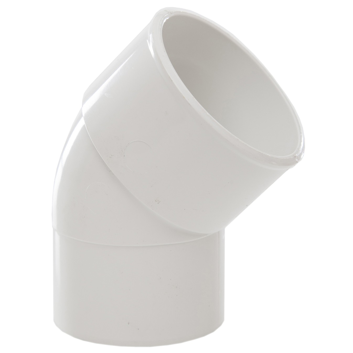 Polypipe 50mm Solvent Weld Waste 45 Degree Spigot Bend - White