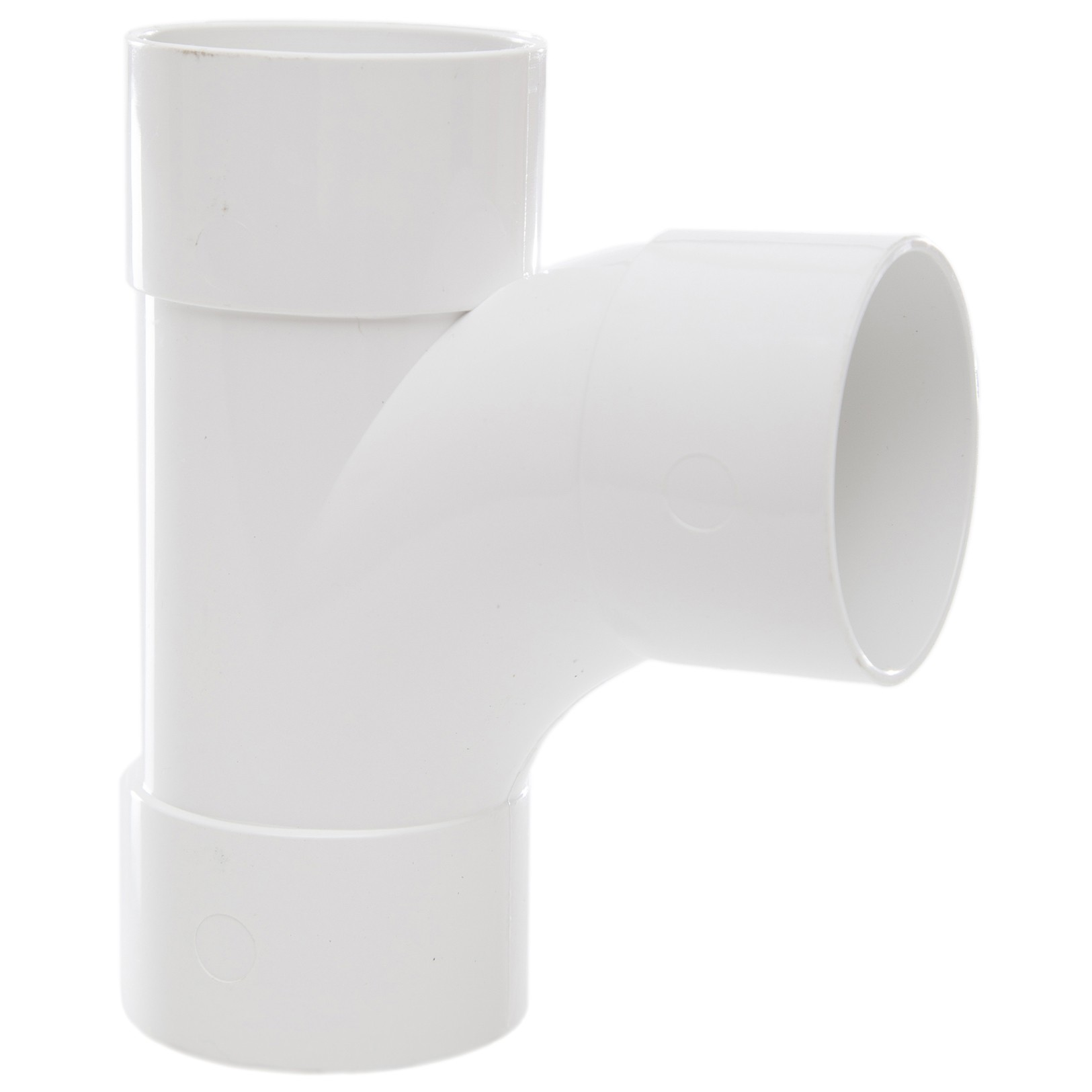 Polypipe 50mm Solvent Weld Waste 92.5 Degree Swept Tee - White