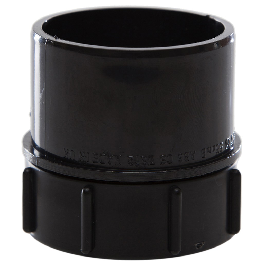 Polypipe 50mm Solvent Weld Waste Screwed Access Plug - Black