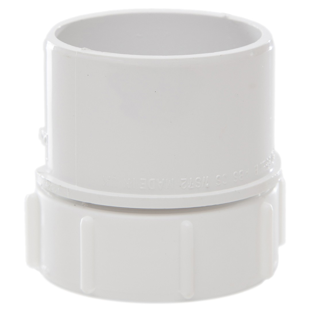 Polypipe 50mm Solvent Weld Waste Screwed Access Plug - White