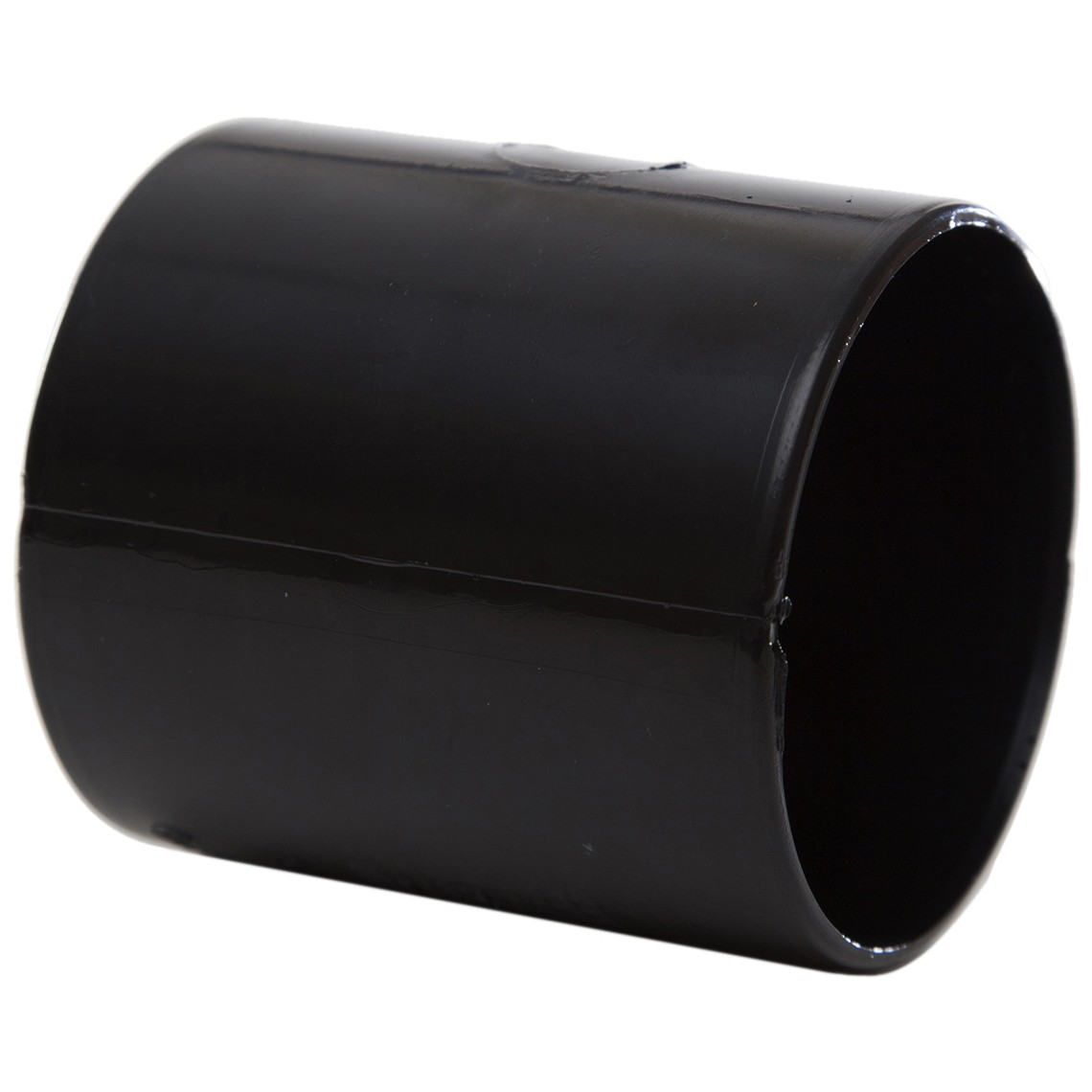 Polypipe 50mm Solvent Weld Waste Straight Coupler - Black