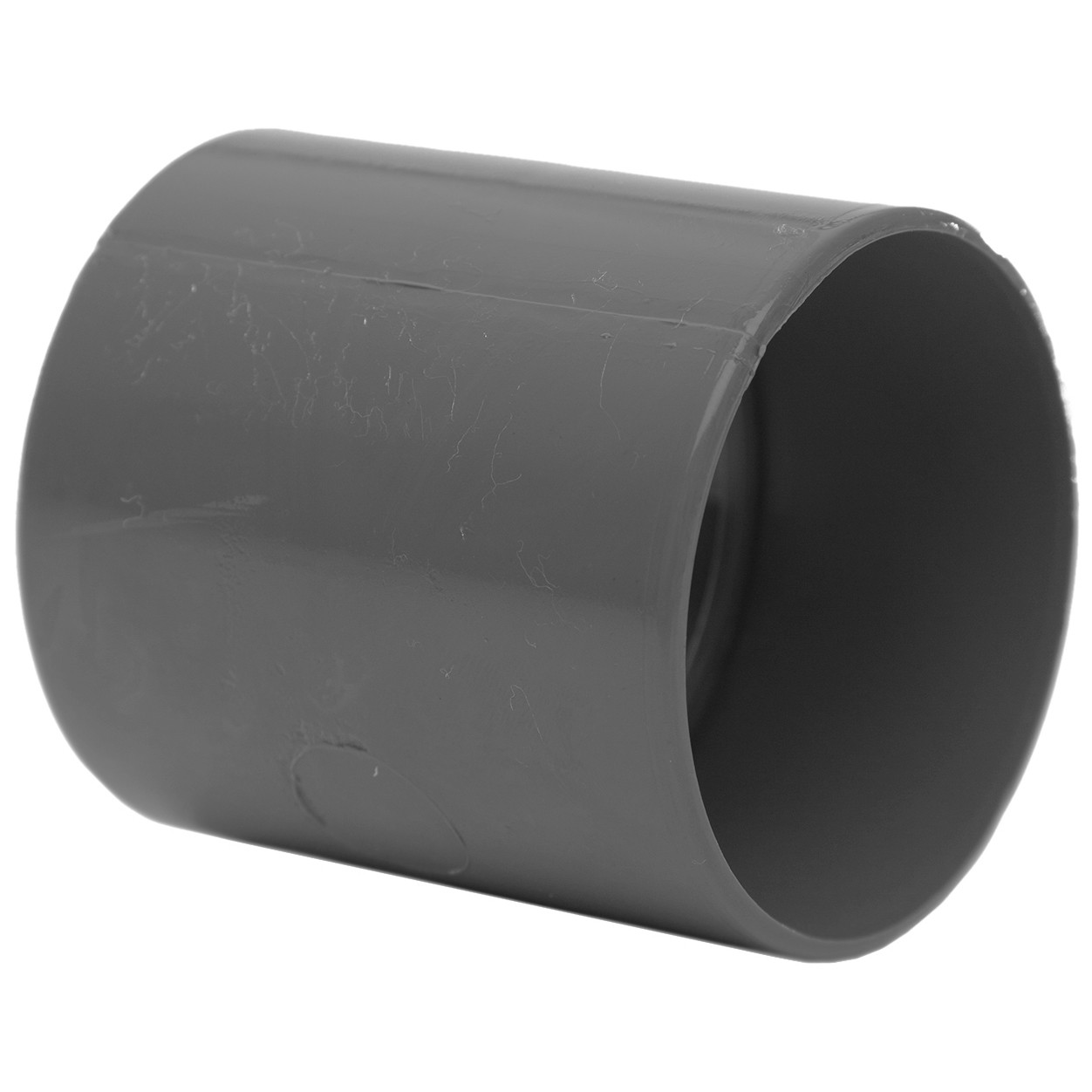 Polypipe 50mm Solvent Weld Waste Straight Coupler - Grey