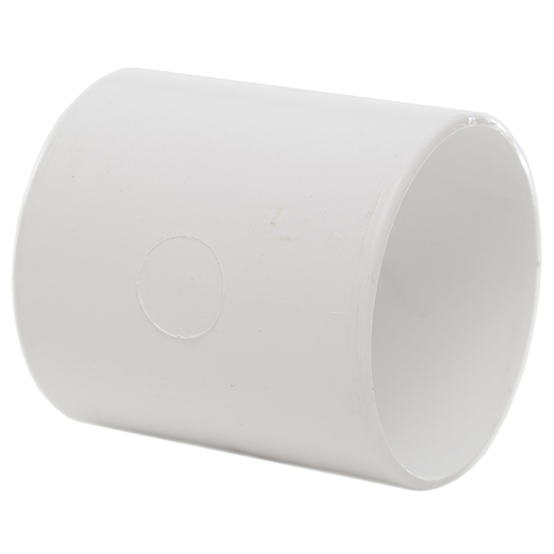 Polypipe 50mm Solvent Weld Waste Straight Coupler - White