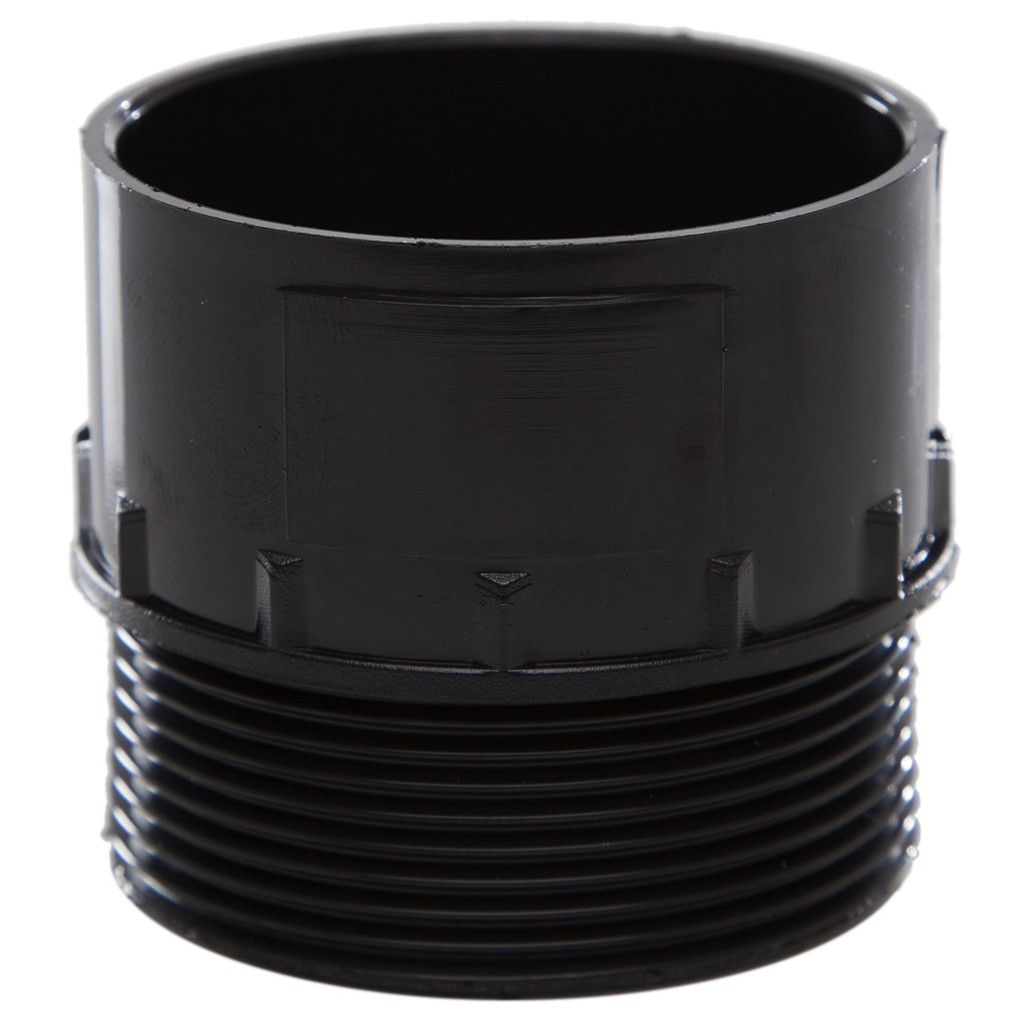 Polypipe 50mm Solvent Weld Waste to Male Iron Adaptor - Black
