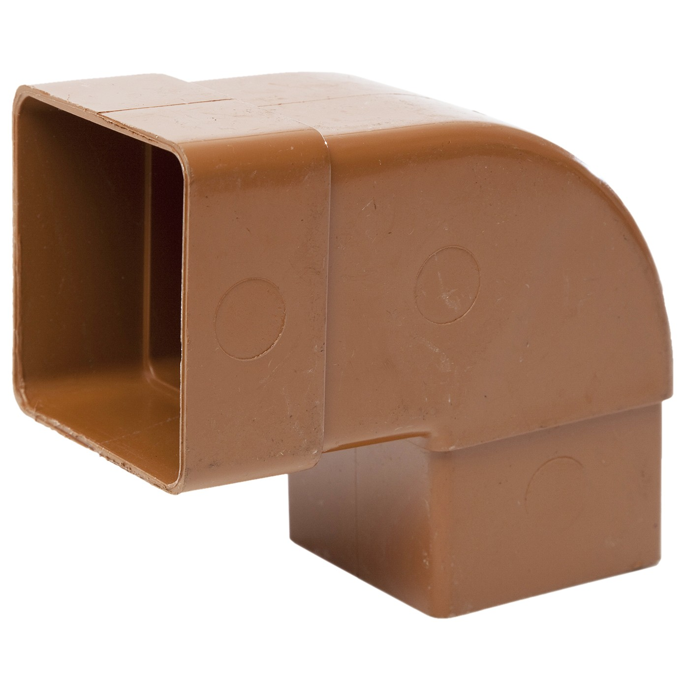 Polypipe 65mm Square Down Pipe 92.5 Degree Offset Bend - Caramel