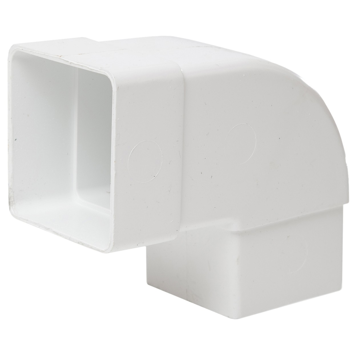 Polypipe 65mm Square Down Pipe 92.5 Degree Offset Bend - White