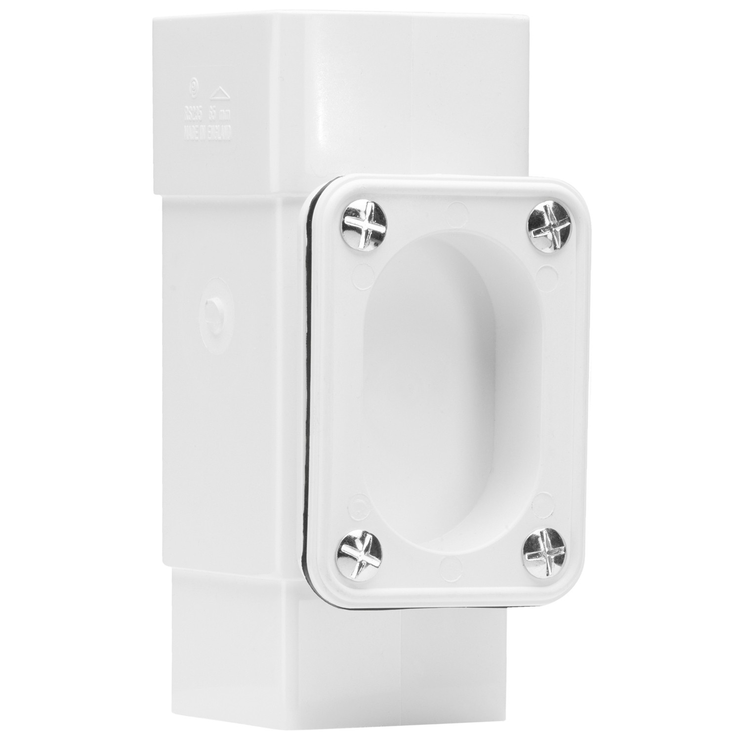 Polypipe 65mm Square Down Pipe Access Pipe - White