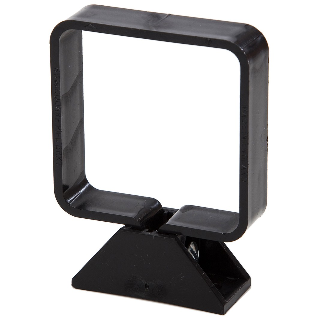 Polypipe 65mm Square Down Pipe Clip (Complete) - Black