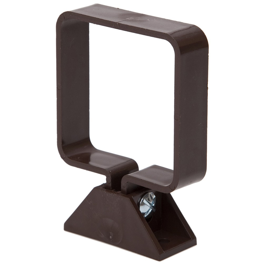 Polypipe 65mm Square Down Pipe Clip (Complete) - Brown
