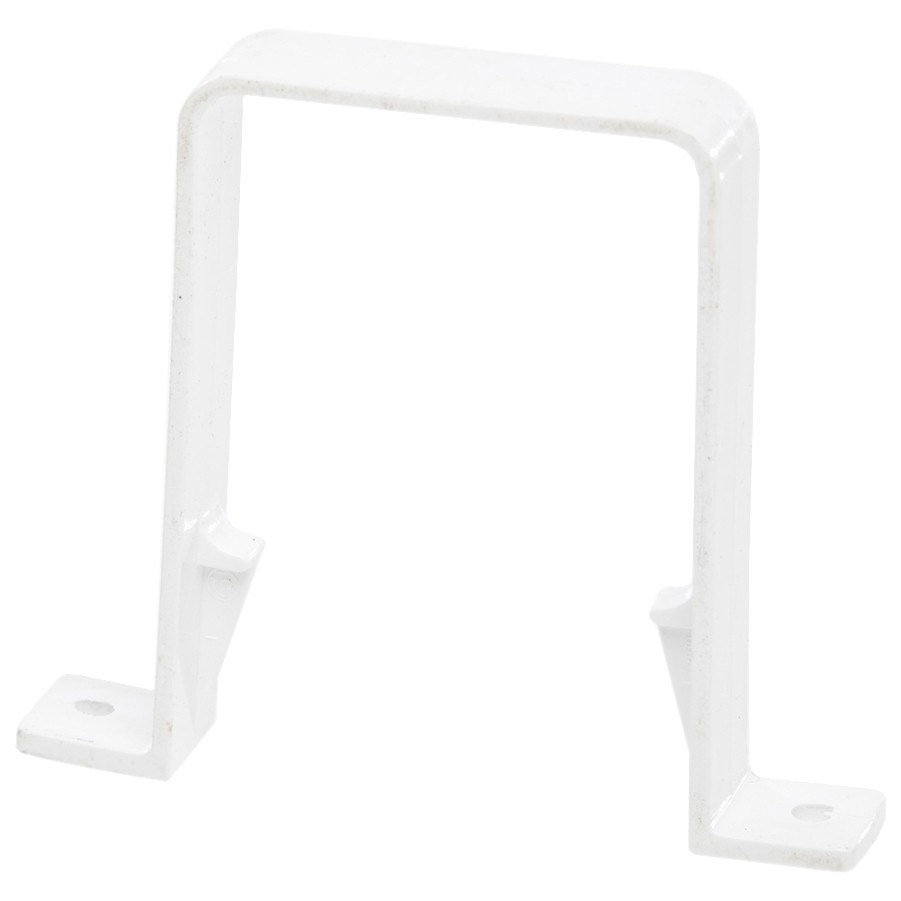 Polypipe 65mm Square Down Pipe Clip - White