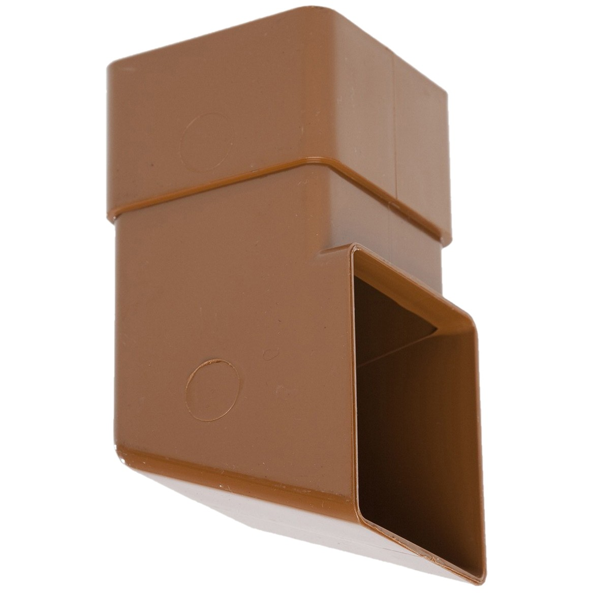 Polypipe 65mm Square Down Pipe Shoe - Caramel