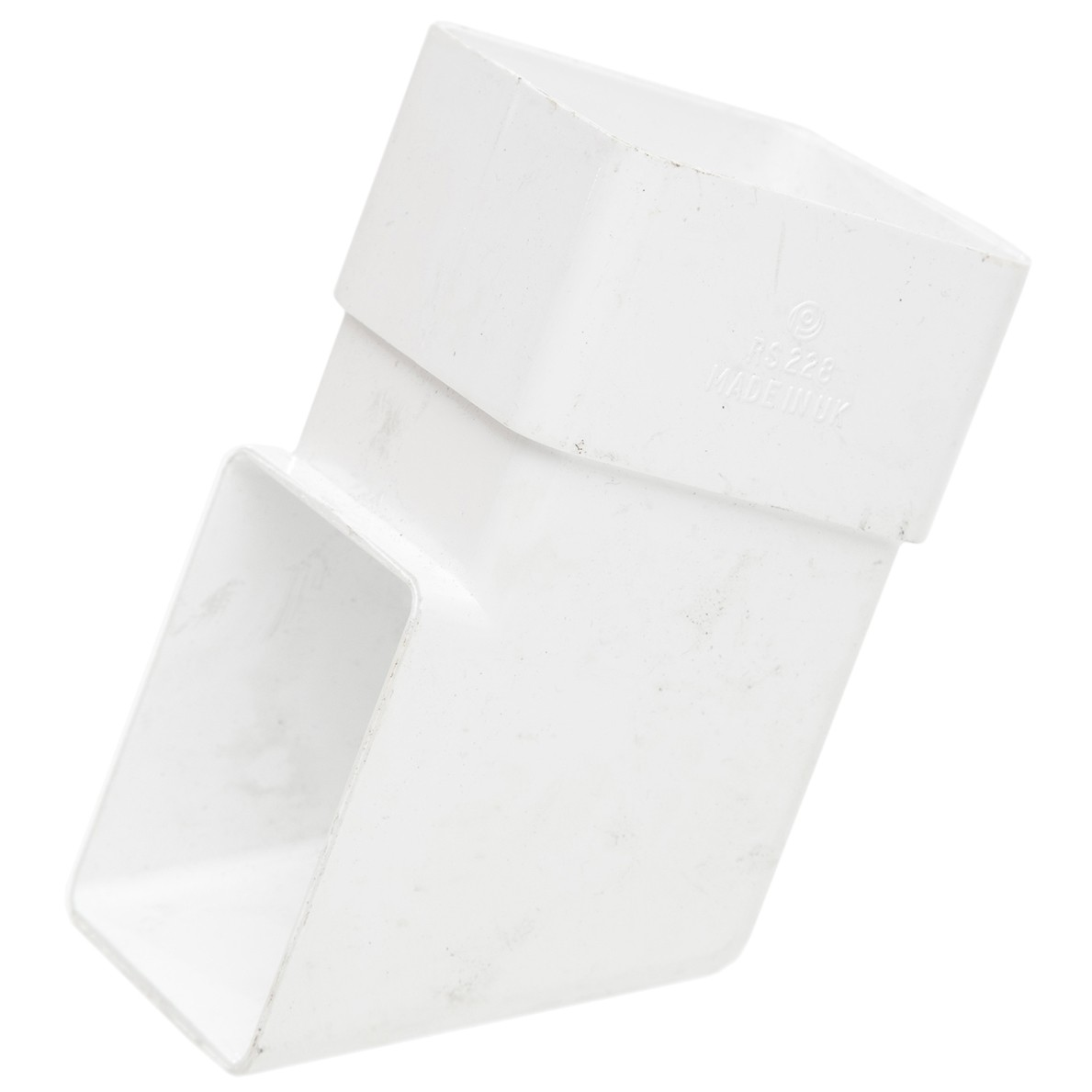 Polypipe 65mm Square Down Pipe Shoe - White
