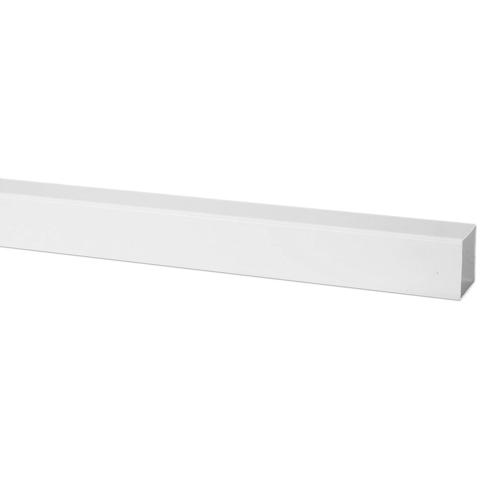 Polypipe 65mm Square Down Pipe - White, 2.5 metre