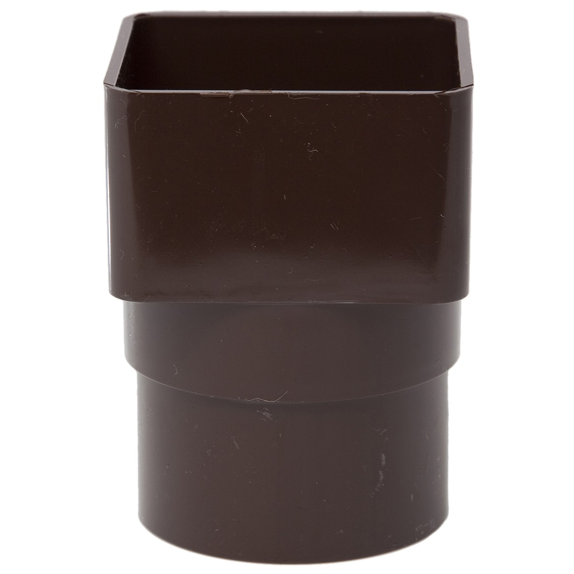 Polypipe 65mm Square to 68mm Round Down Pipe Adaptor - Brown