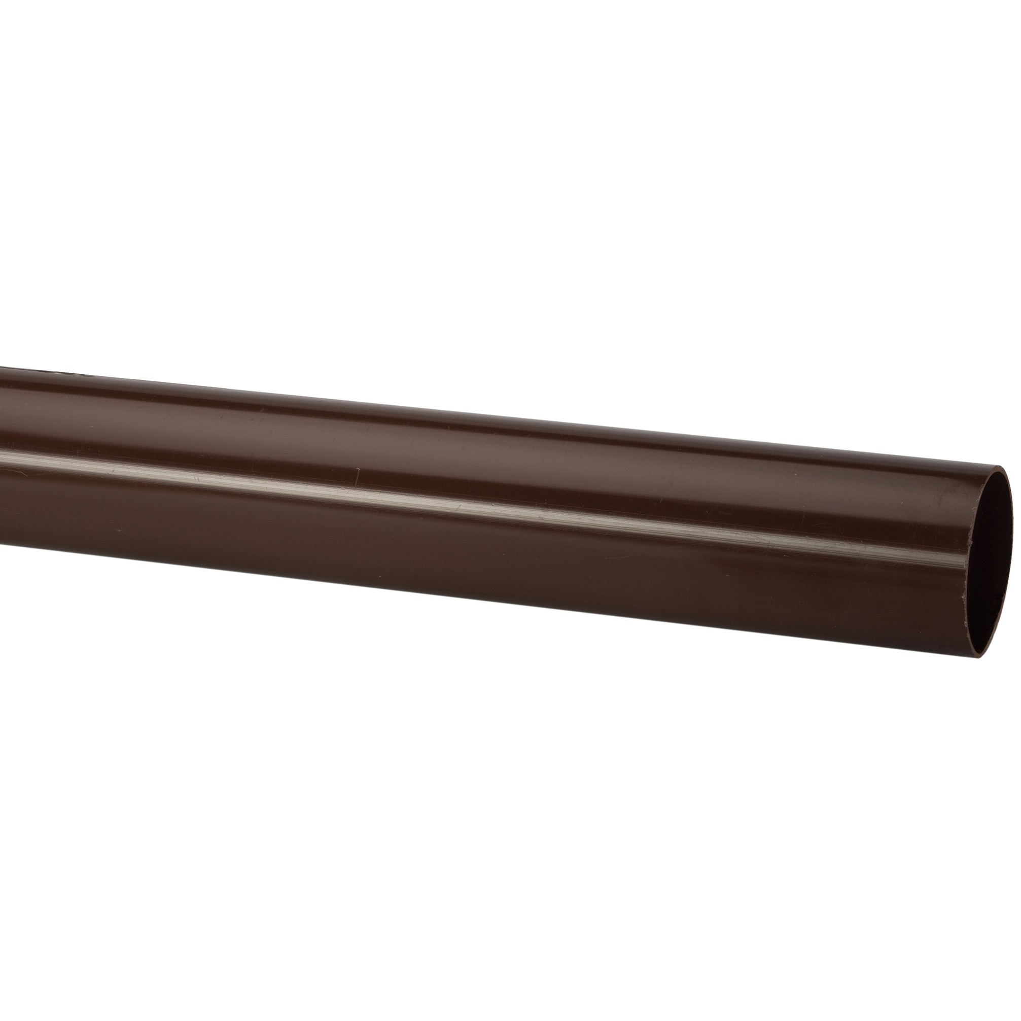 Polypipe 68mm Round Down Pipe (1.25 metre x 2) - Brown