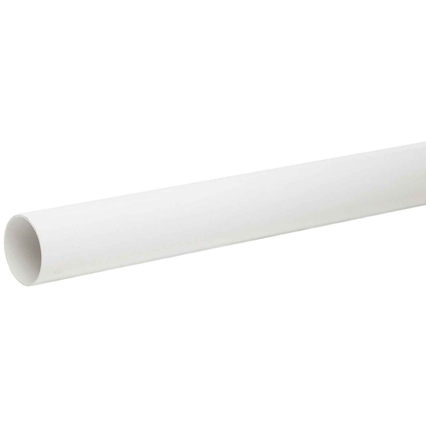 Polypipe 68mm Round Down Pipe (1.25 metre x 2) - White