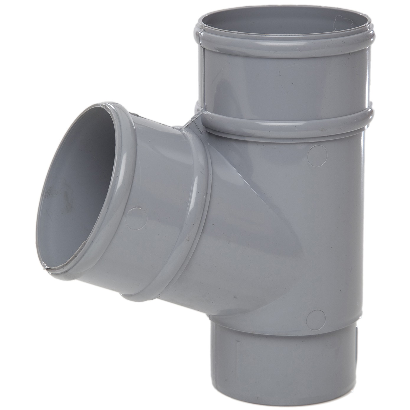 Polypipe 68mm Round Down Pipe 112.5 Degree Branch - Grey