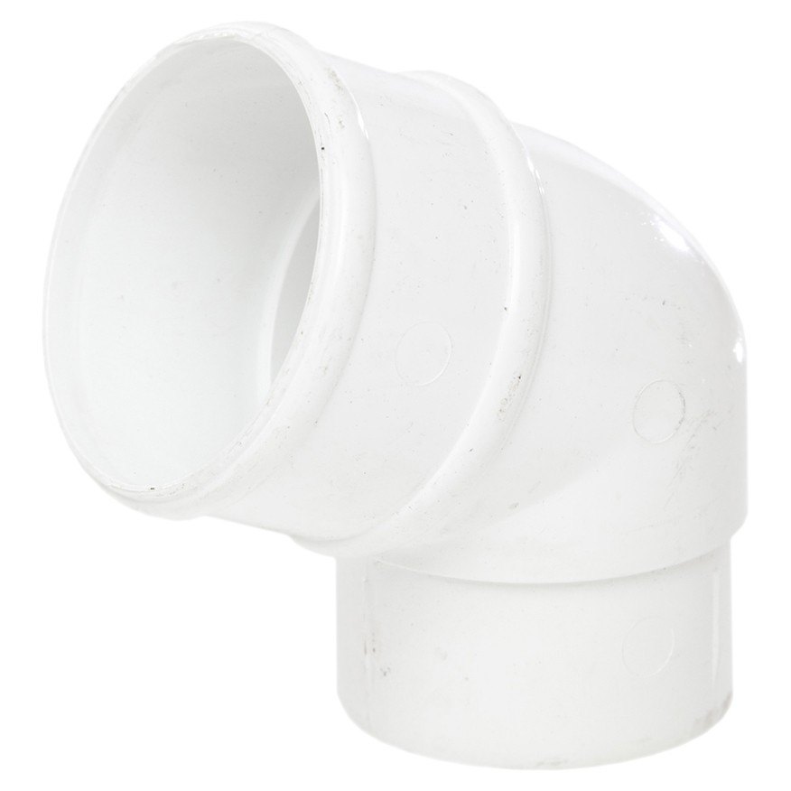 Polypipe 68mm Round Down Pipe 112.5 Degree Offset Bend - White