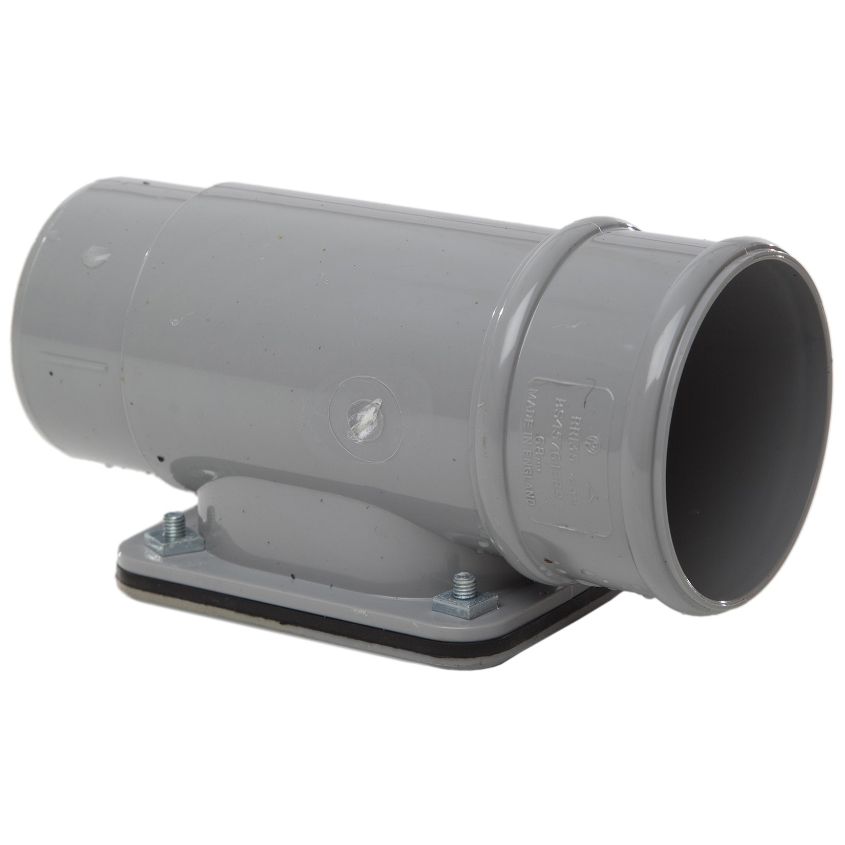 Polypipe 68mm Round Down Pipe Access Pipe - Grey