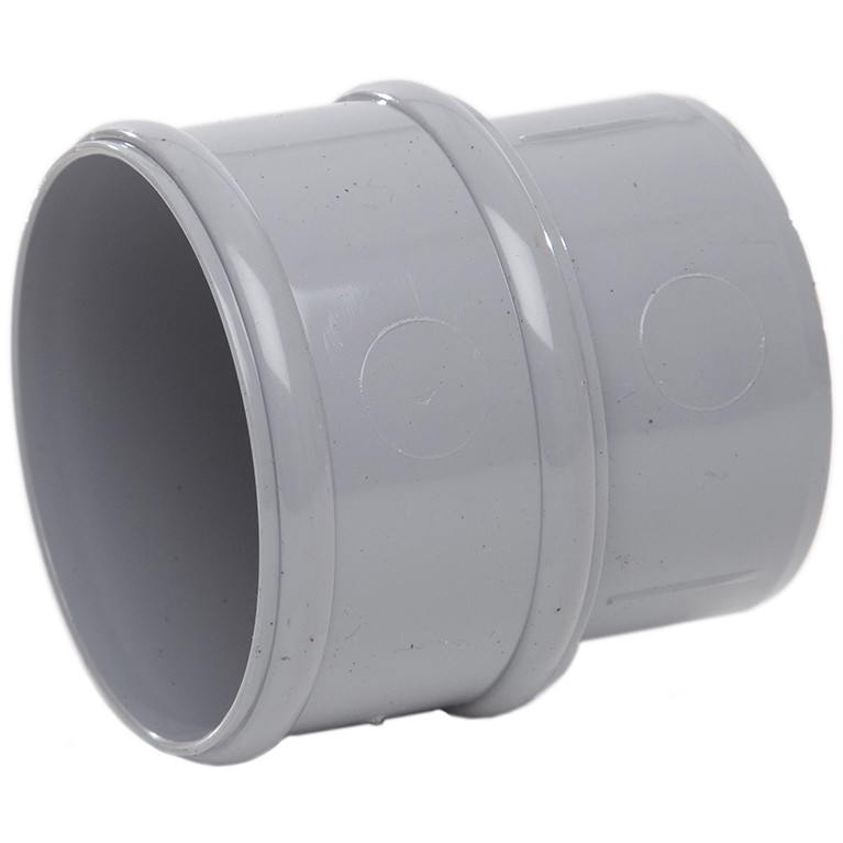 Polypipe 68mm Round Down Pipe Connector - Grey
