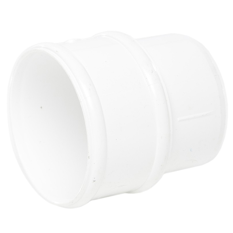Polypipe 68mm Round Down Pipe Connector - White