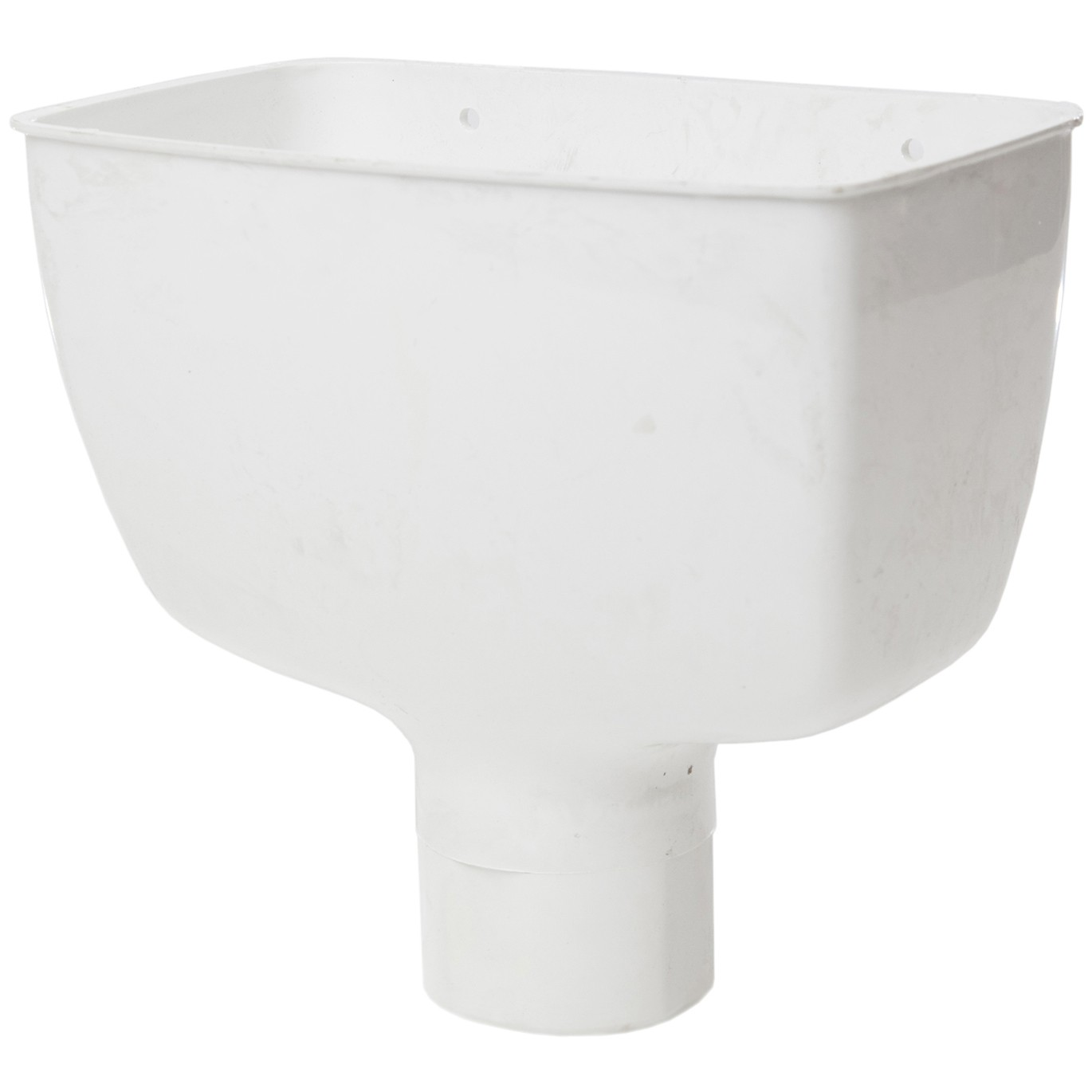 Polypipe 68mm Round Down Pipe Hopper Head - White