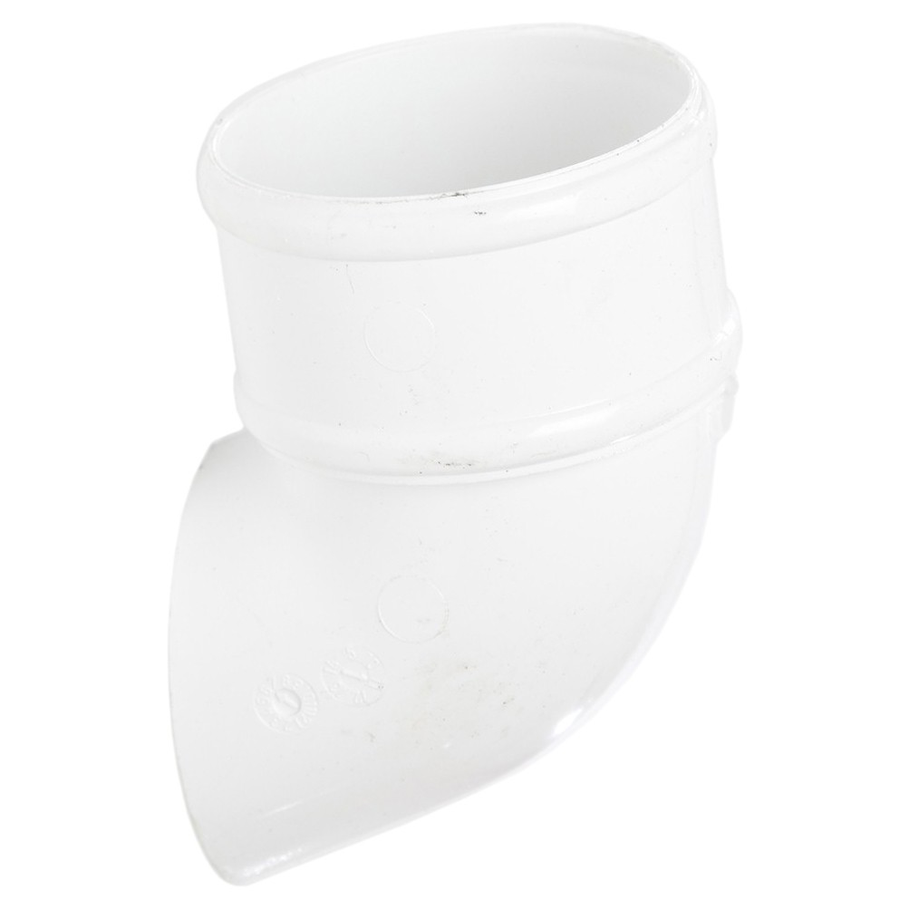 Polypipe 68mm Round Down Pipe Shoe - White