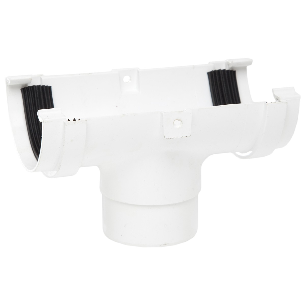 Polypipe 75mm Mini Half Round Gutter Running Outlet - White