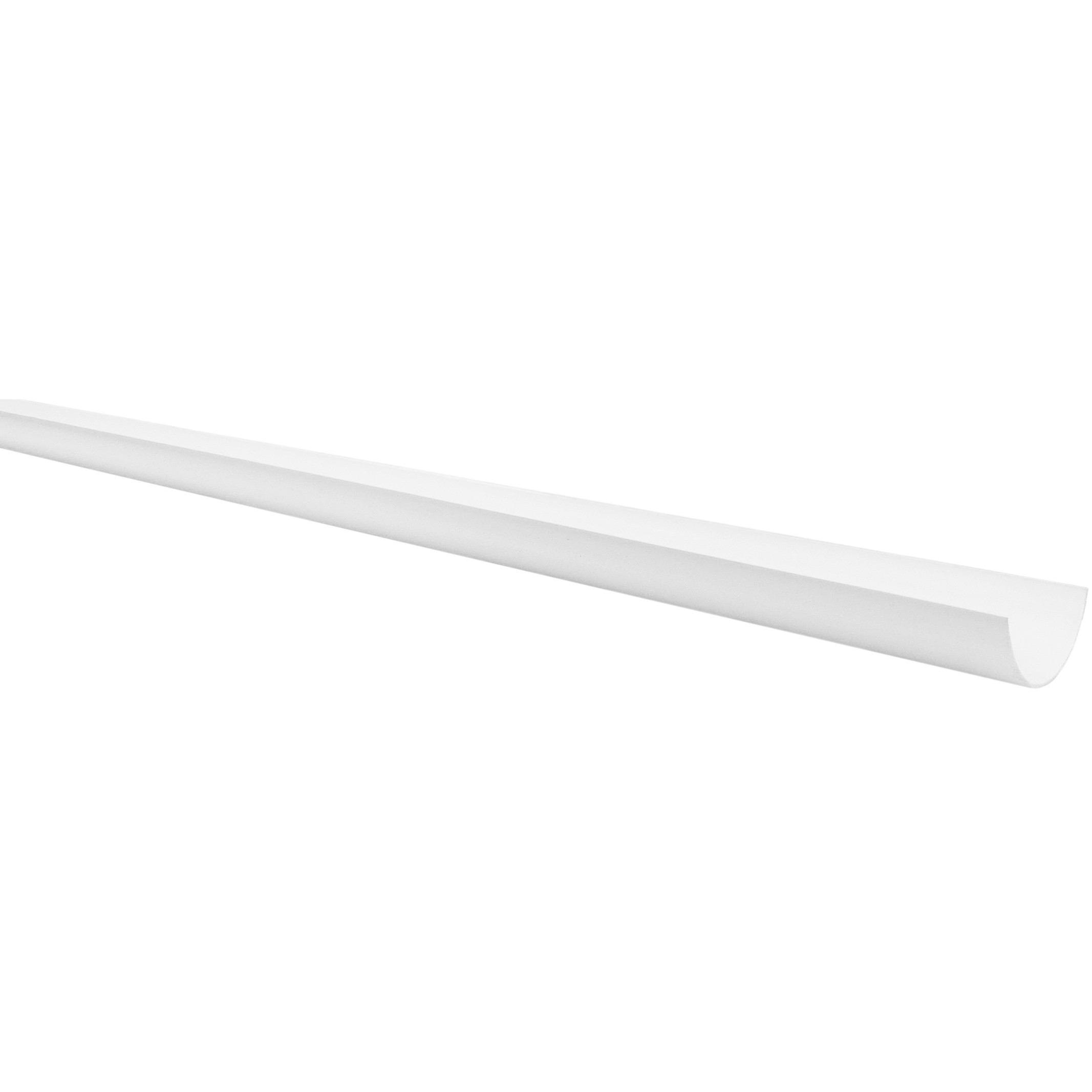 Polypipe 75mm Mini Half Round Gutter - White, 2 metre