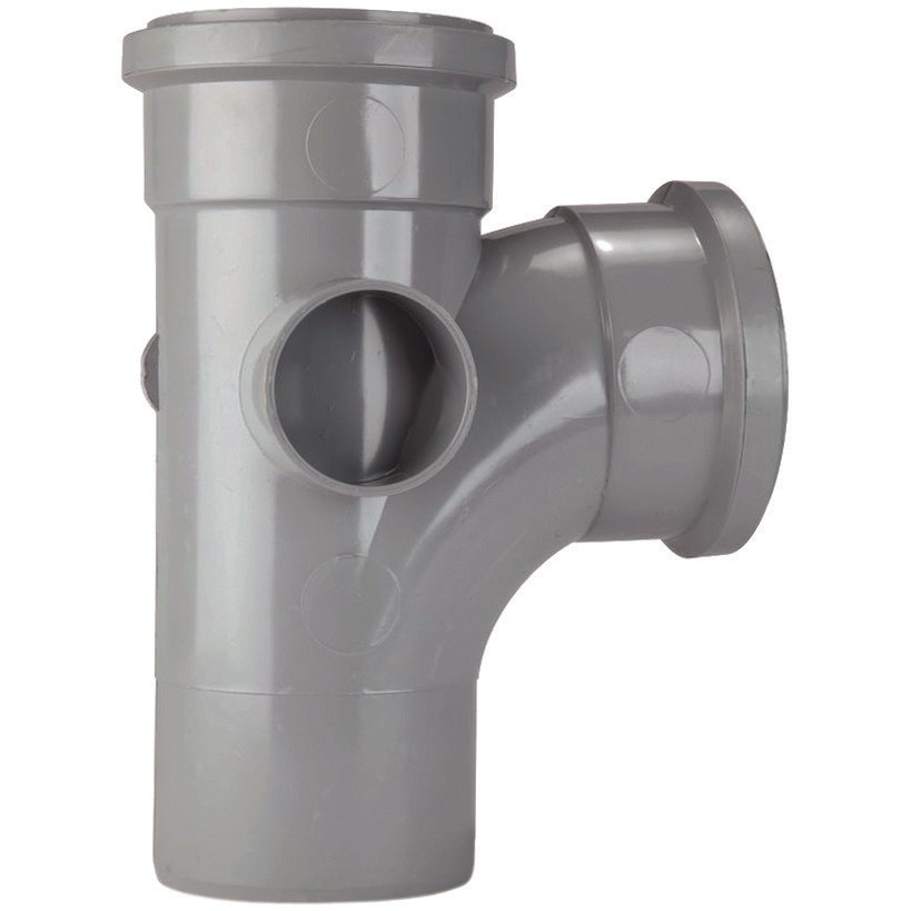 St301g polypipe 82mm soil 92 5 degree equal single branch for 82mm soil pipe