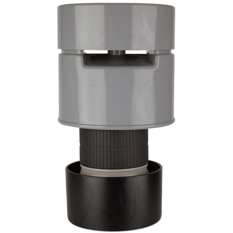 Polypipe 82mm Soil Air Admittance Valve - Grey