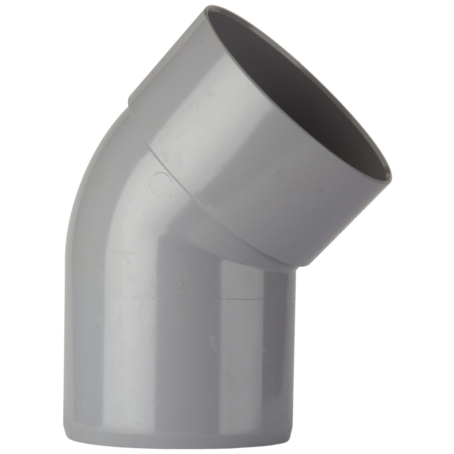 Polypipe 82mm Soil Single Socket 135 Degree Offset Bend - Grey