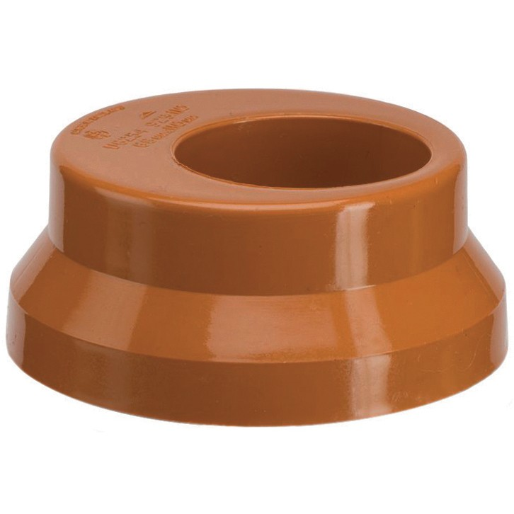 Polypipe 82mm Underground to 68mm Rainwater Adaptor - Terracotta