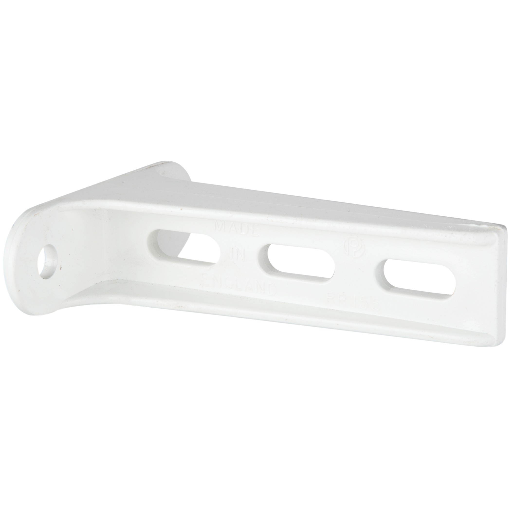 Polypipe Pipe Clip Back Plate (Extended, 112mm) - White