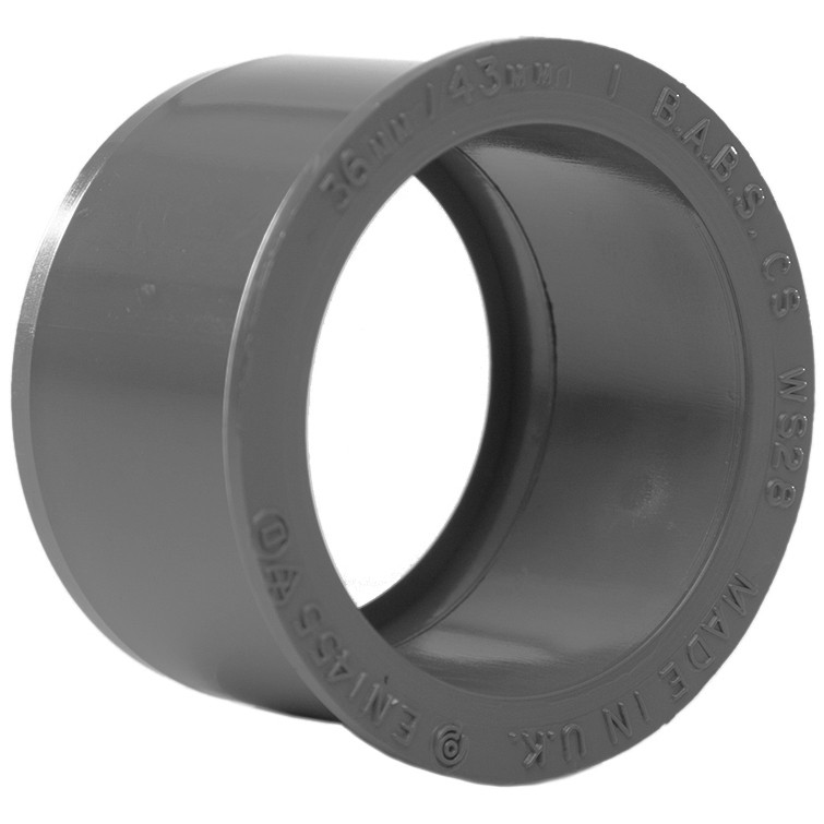 Polypipe Solvent Weld Waste Reducer (40mm to 32mm) - Grey