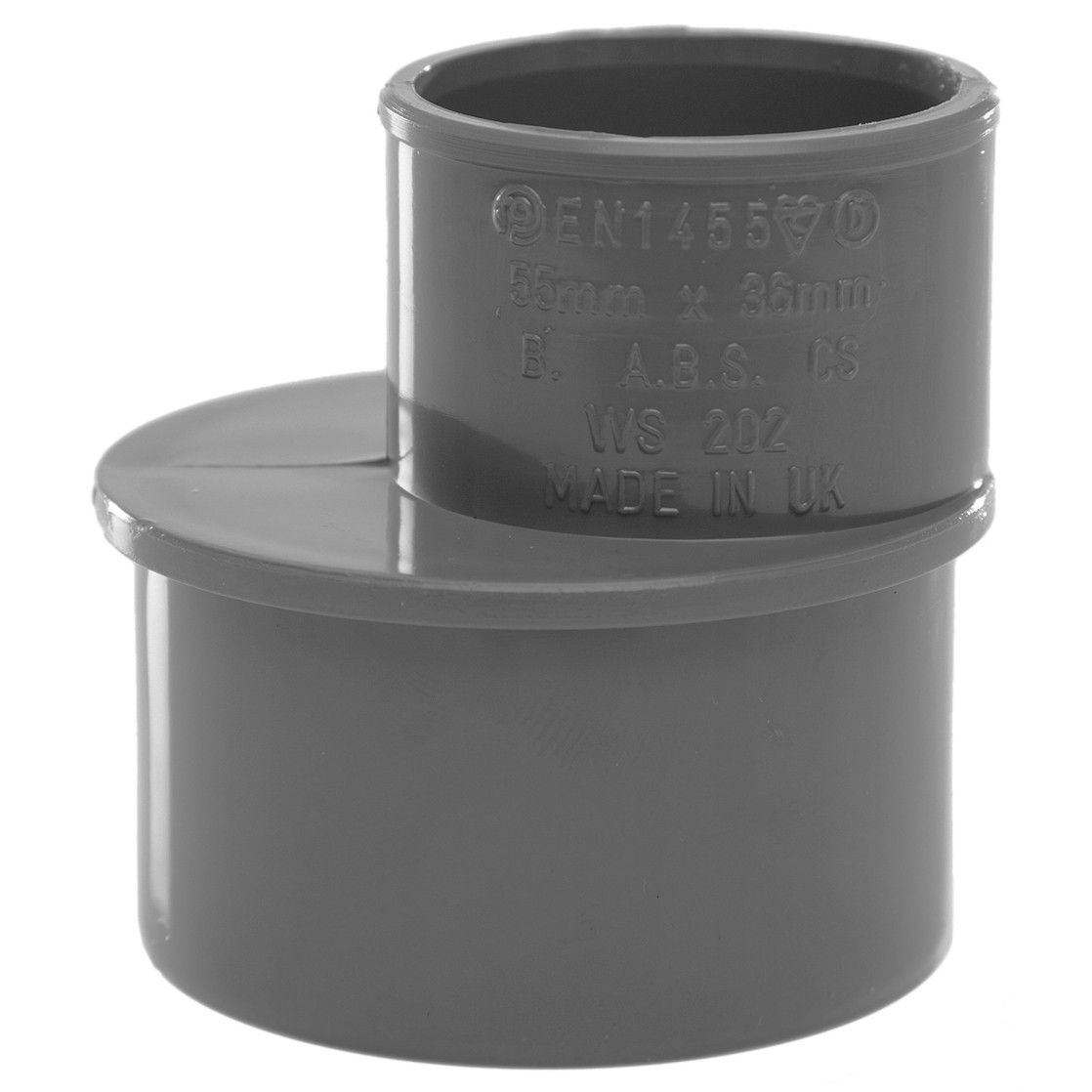 Polypipe Solvent Weld Waste Reducer (50mm to 32mm) - Grey