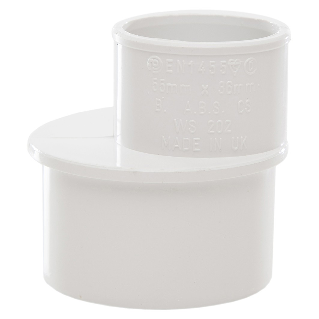 Polypipe Solvent Weld Waste Reducer (50mm to 32mm) - White